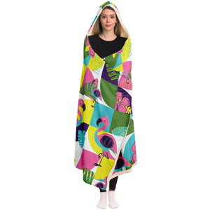 Lost in the Tropics Hooded Blanket
