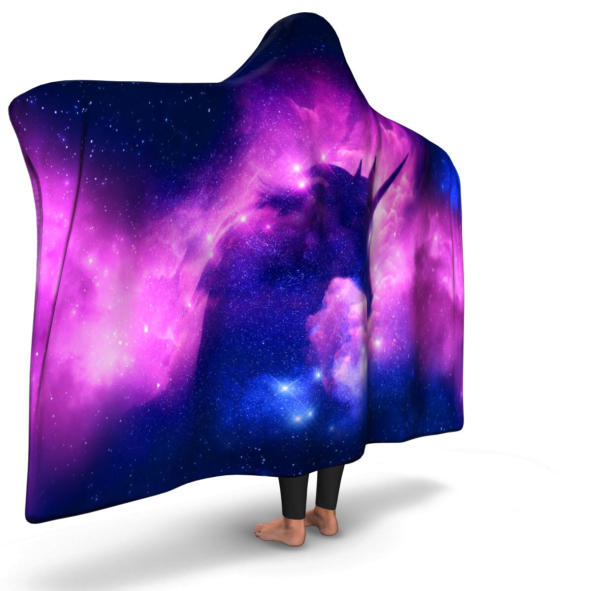 Galaxy Unicorn Hooded Blanket