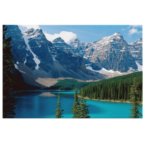 Moraine Lake Beautiful Valley Banff National Park Framed Canvas Photo Print