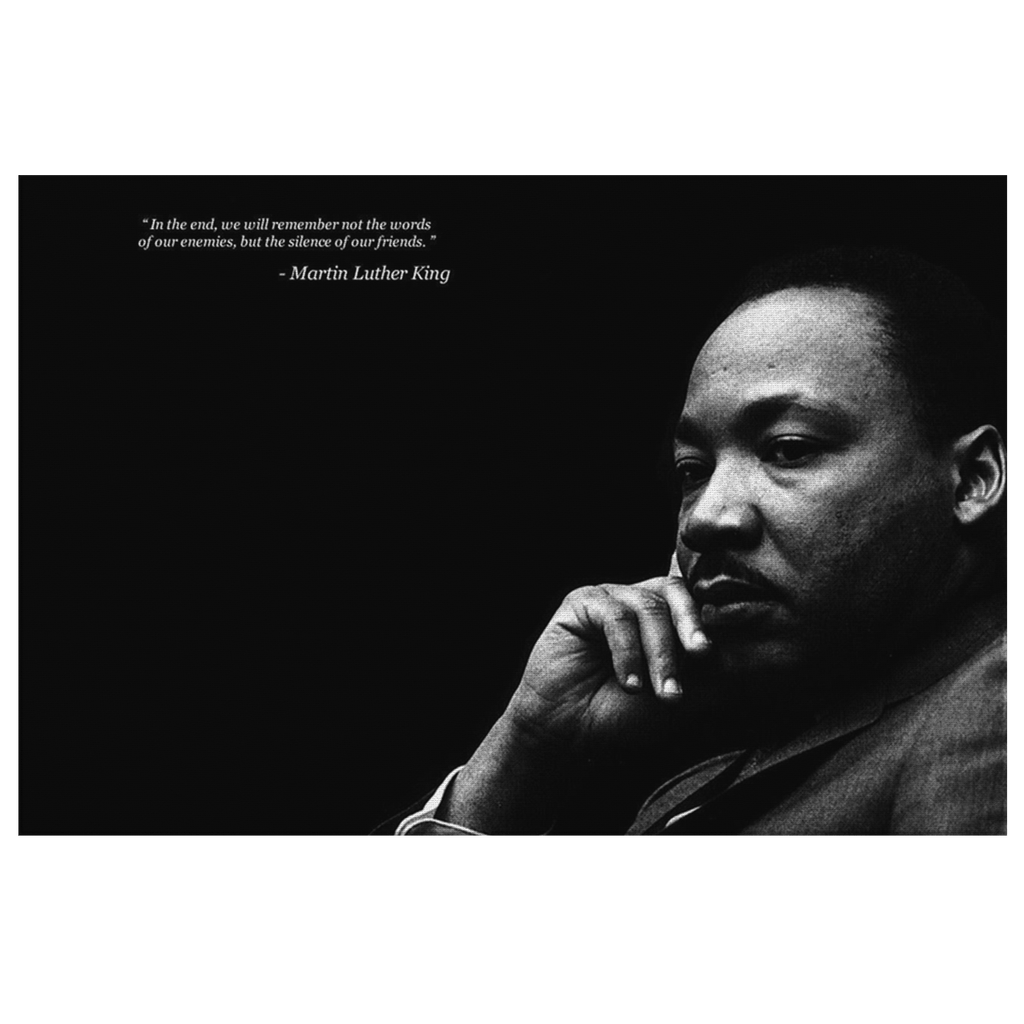Martin Luther King Quote Photo Print on Framed Canvas