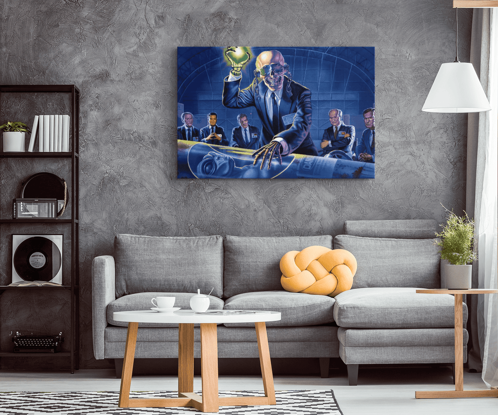 Megadeth Rust in Peace Framed Canvas Wall Art
