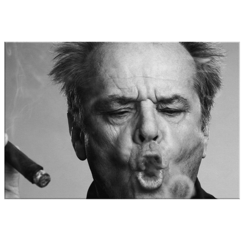 Jack Nicholson Smoking Cigar Framed Canvas Photo Print Wall Art