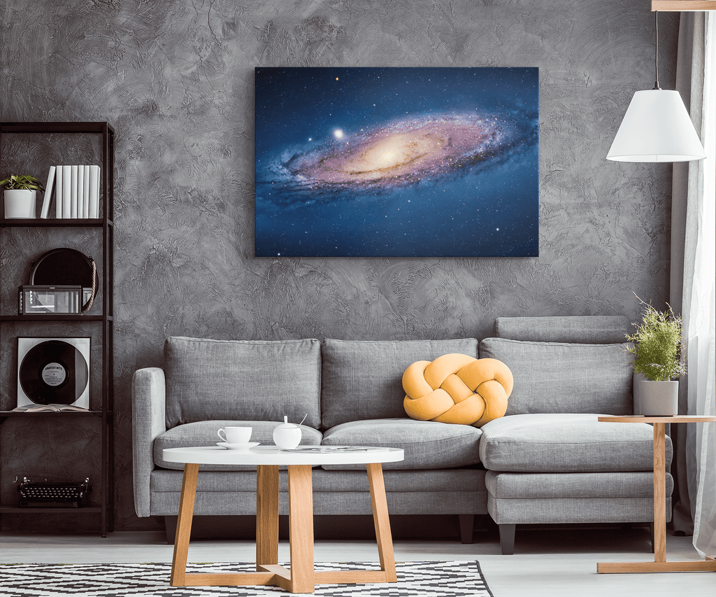 Andromeda Galaxy Deep Space NASA Hubble Telescope Science Gift Bedroom Decor | Framed Canvas Wall Art Print
