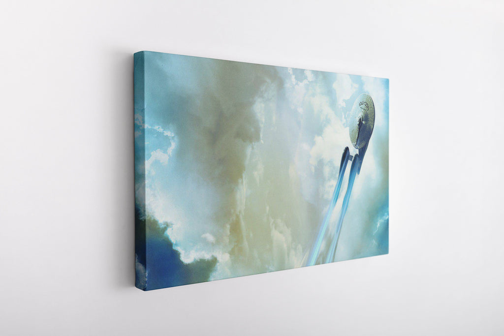 Star Trek Enterprise USS NCC 1701 Painting on Framed Canvas Wall Art Print | Star Ship Enterprise | Star Trek Fan Art Trekkie Gift