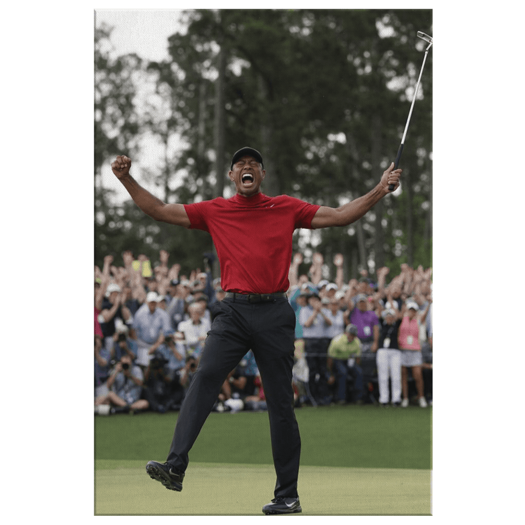 Tiger Woods Golf Champion Photo Print on Framed Canvas Wall Hanging | PGA Tour