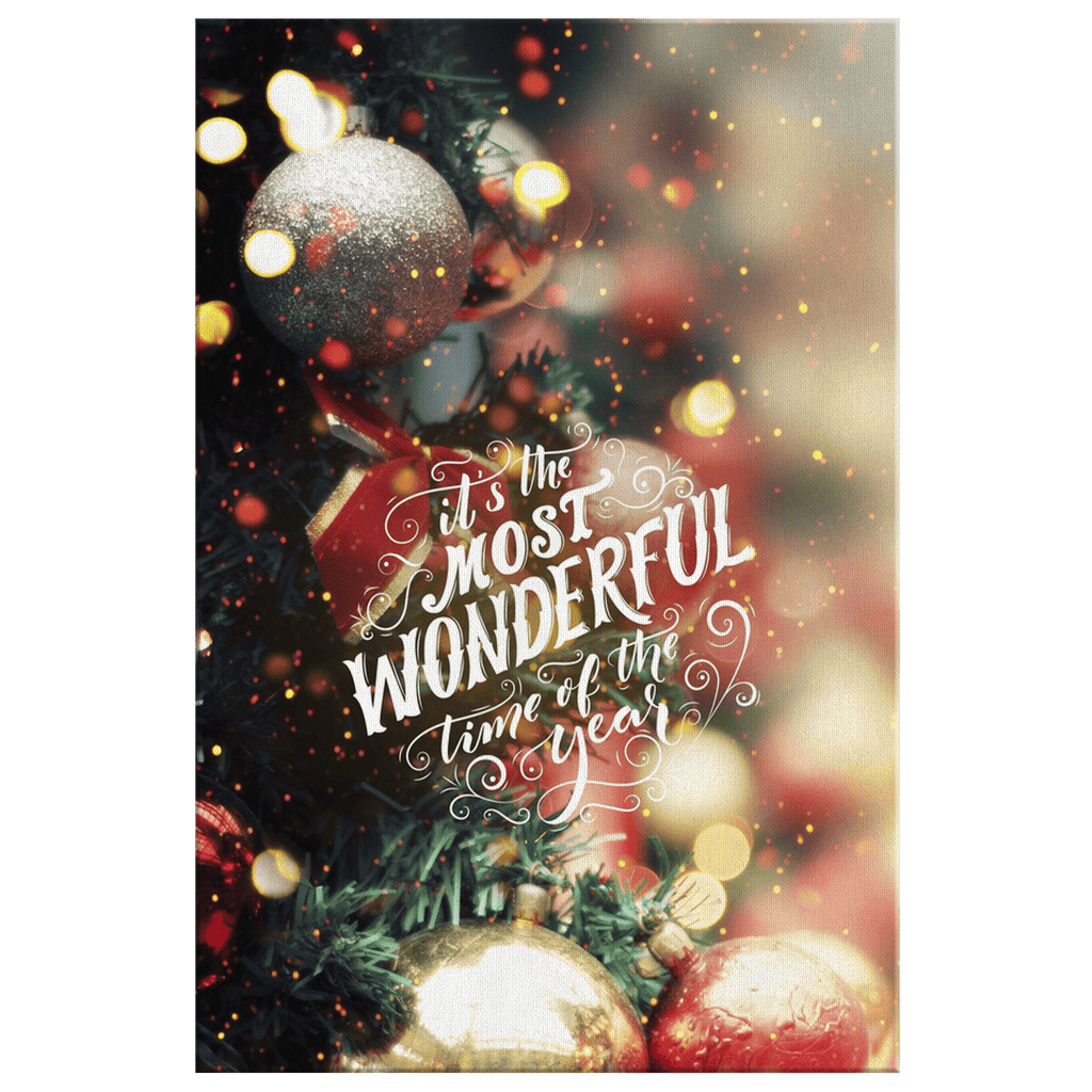 Christmas Holiday Decor Wall Art Print Canvas | Most Wonderful Time Of Year