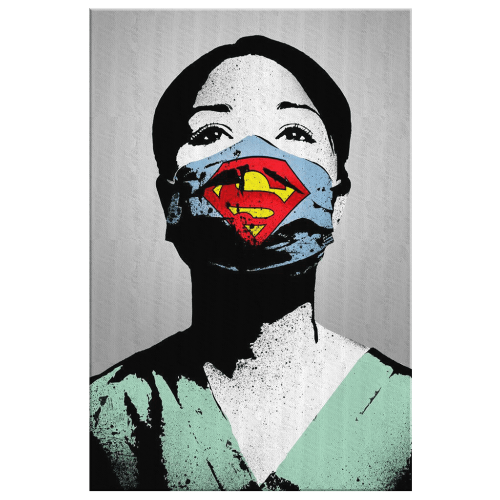 Frontline Nurse Hero 2020 Super Nurse Appreciation Framed Canvas Wall Art Print Gift for NHS Healthcare Worker