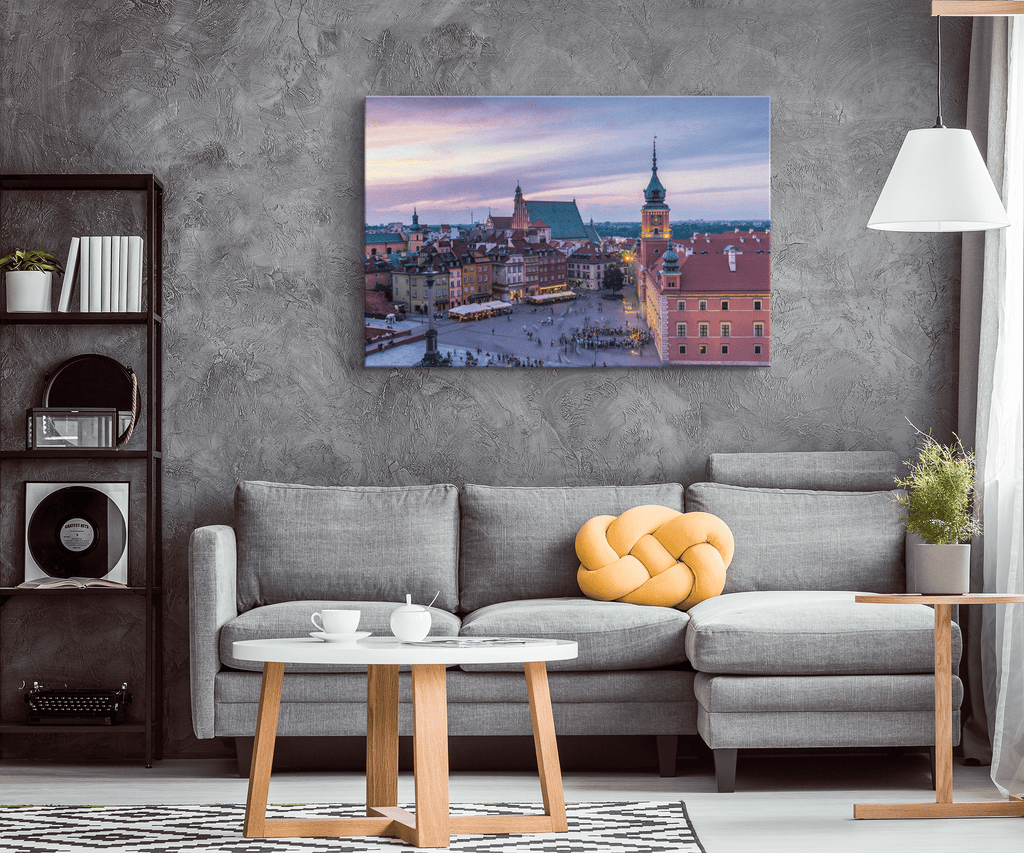 Poland Warsaw Old Architecture Framed Canvas Photo Print