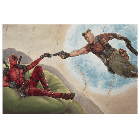 Deadpool and Cable Marvel Comics Painting Print on Canvas Wall Art
