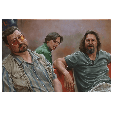 The Big Lebowski Framed Canvas Art Print | The Dude Painting Fan Art Wall Hanging