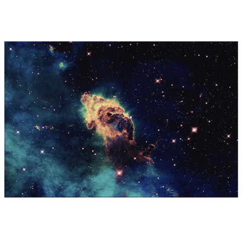 Deep Space Nebula Star Galaxy Hubble Telescope Photo Print on Framed Canvas Wall Art Decor