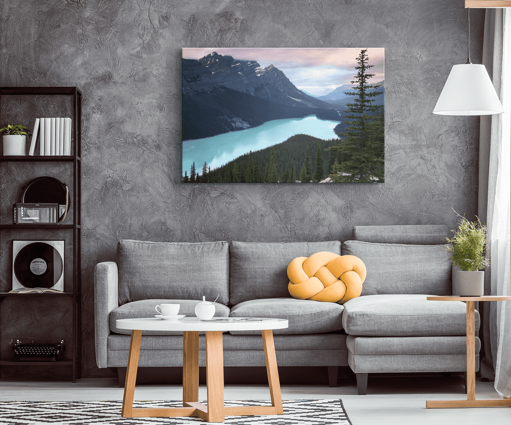 Peyto Lake Banff Lake Lousie Canada Blue Alpine Lake Landscape Nature Framed Canvas Photo Print