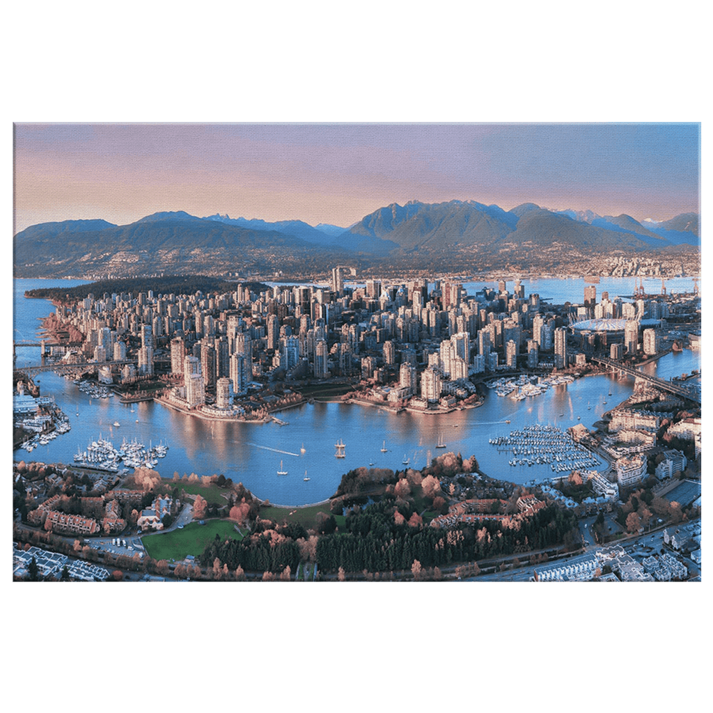 Vancouver BC Canada Framed Canvas Photo Print