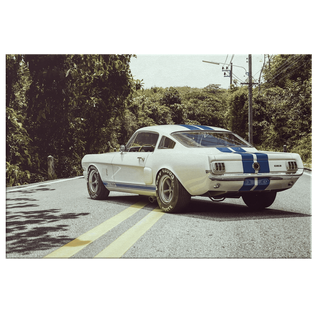 Ford Shelby GT350R Muscle Framed Canvas Photo Print