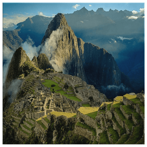 Huayna Picchu Mountain in Peru Framed Canvas Photo Print
