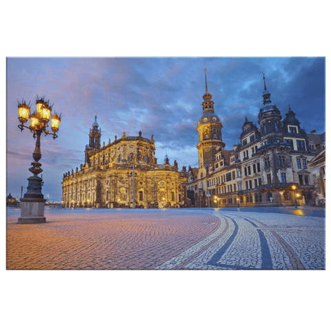 Dresden Germany Framed Canvas Photo Print