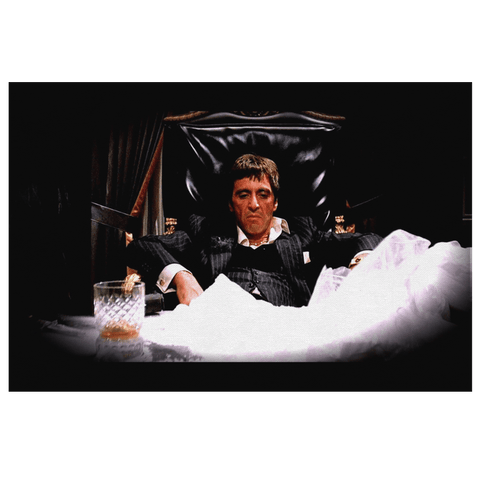 Al Pacino Scarface Framed Canvas Photo Print