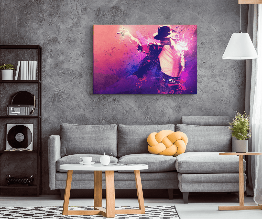 Michael Jackson Art Print on Framed Canvas Wall Art | Michael Jackson Fan Art Gift