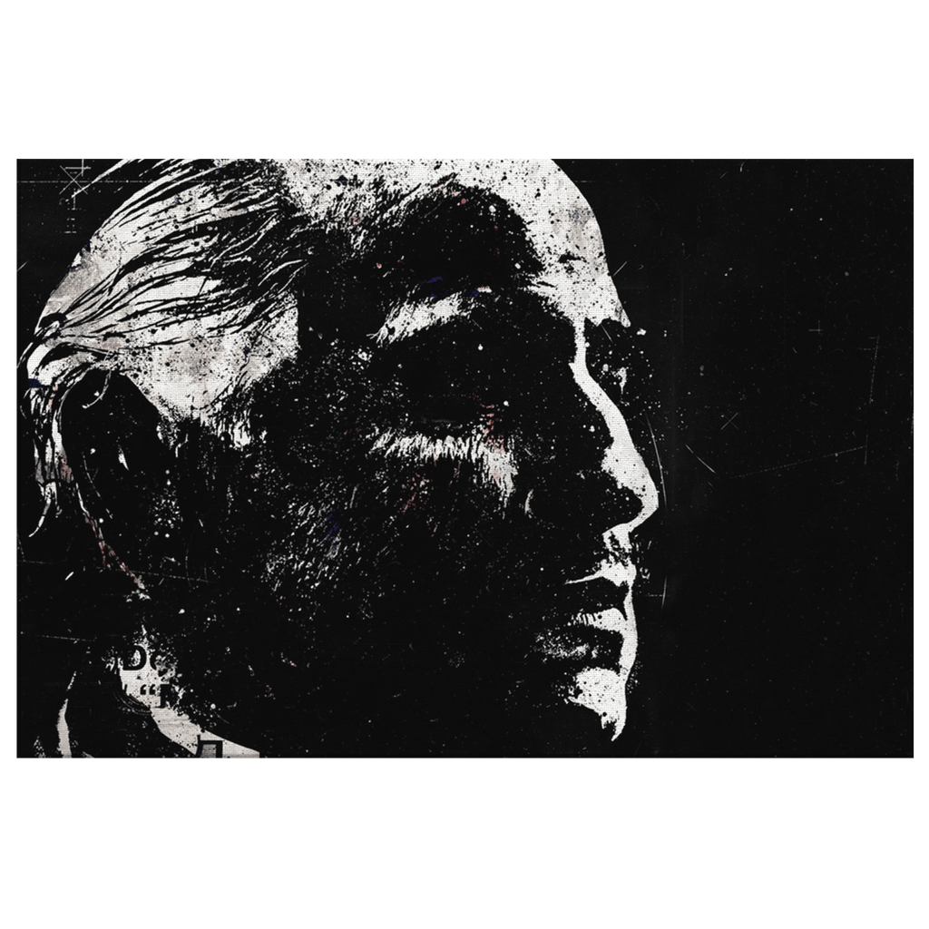 Portrait of Don Vito Corleone The Godfather Framed Canvas Wall Art