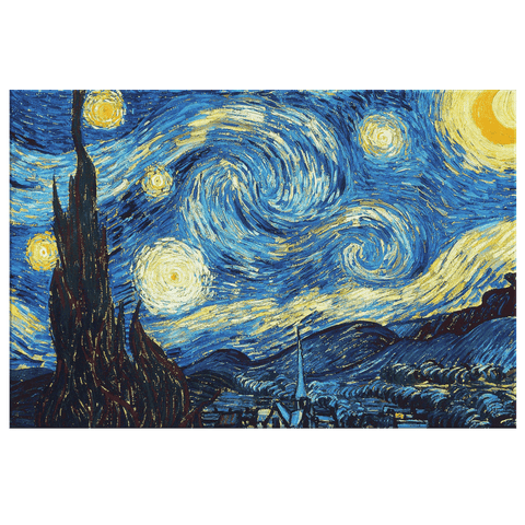 Starry Night by Vincent Van Gogh on Framed Canvas Wall Art Print | Classic Painting Famous Art | Vintage Art Stary Night
