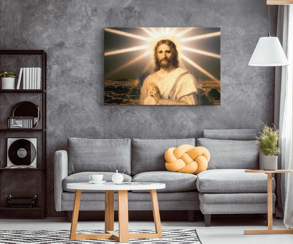 Jesus Christ Painting on Framed Canvas Wall Art Print | Christianity Faith Christian Religion Photo Print