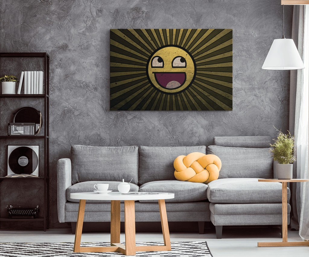 Happy Sun Framed Canvas Wall Art