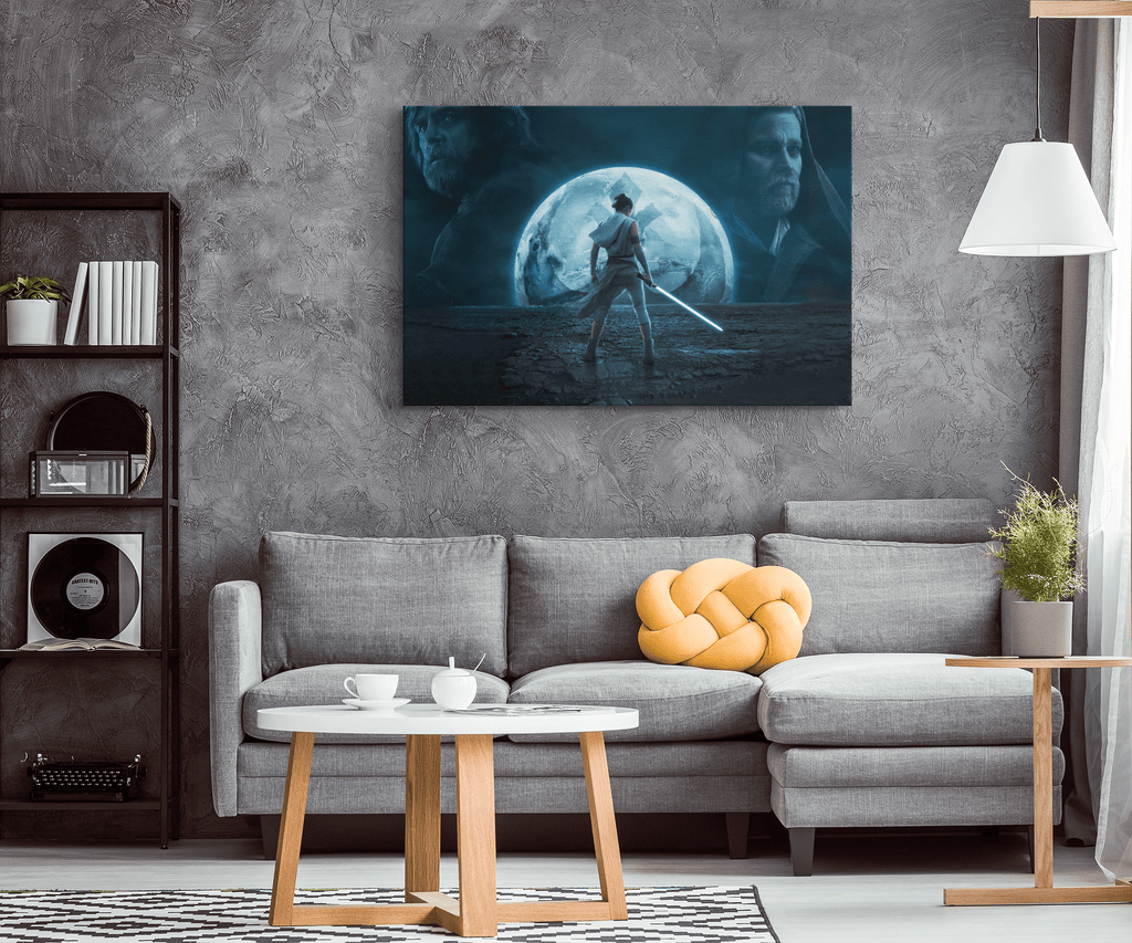 Star Wars The Rise Of Skywalker Framed Canvas Photo Print