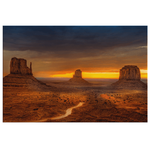 Monument Valley Utah USA Photo Print on Framed Canvas Wall Art | National Park Western Desert Nature Canvas Print