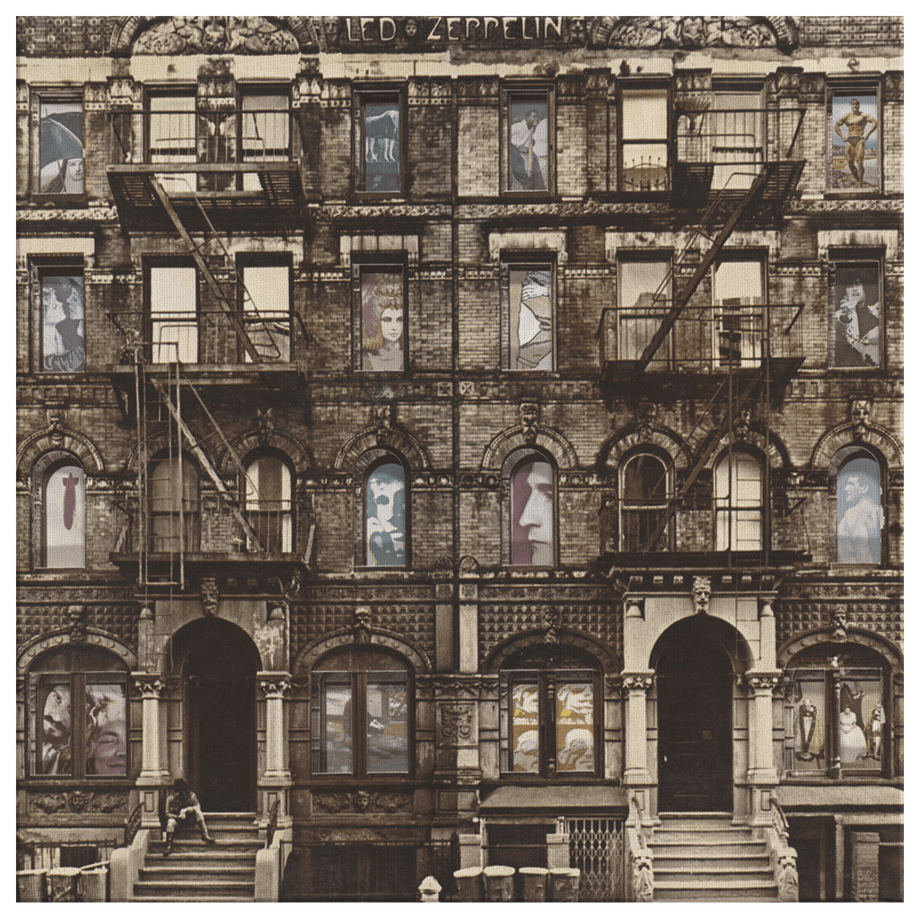 Led Zeppelin Physical Graffiti Album Cover Artwork on Framed Canvas Wall Art Print