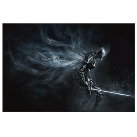 Dark Souls Boreal Outrider Canvas Wall Art Print | Gamer Game Room Decor | Bedroom Decor Teen