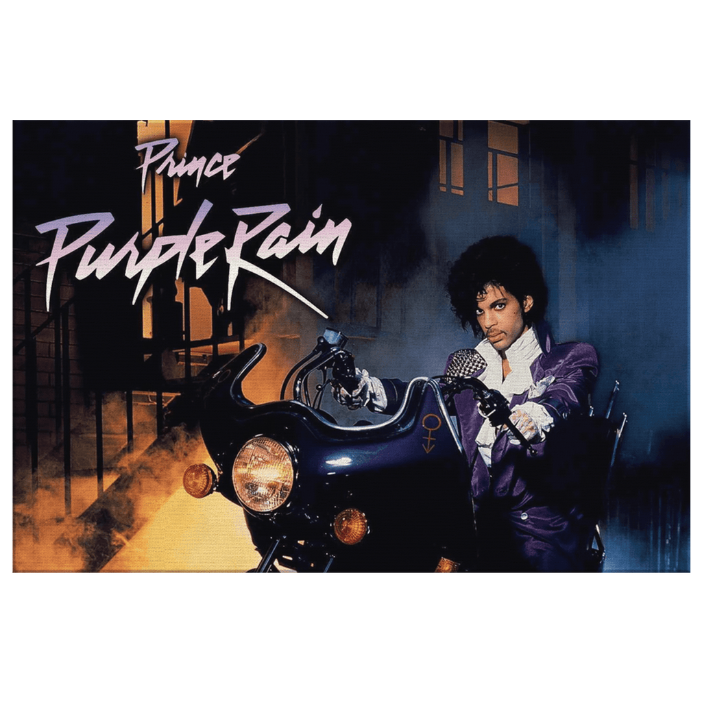 Prince Purple Rain Album Art Cover | Framed Canvas Photo Print Wall Hanging