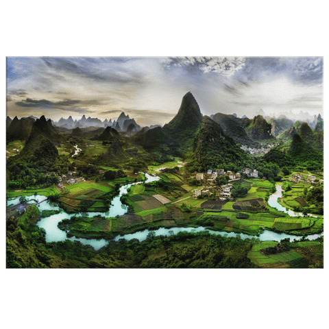 Beautiful Guilin China Photo Print on Framed Canvas Wall Art | China Tourism Nature Decor