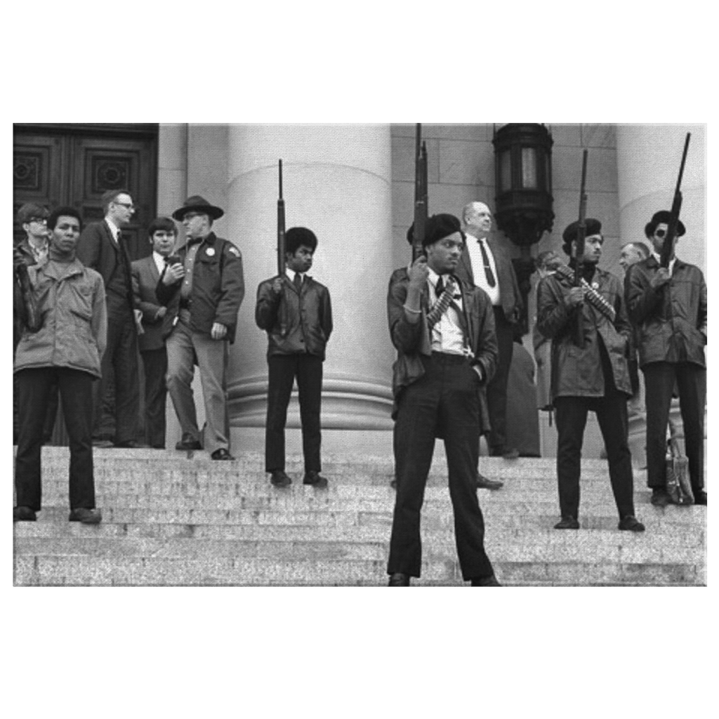 Black Panthers Historical Photo Print on Framed Canvas Wall Art | Black Lives Matter BLM Black Power Black History Civil Rights Justice