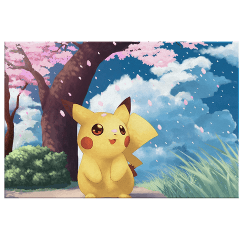 Pikachu Pokémon Anime Cartoon Wall Art Print on Framed Canvas Bedroom Decor