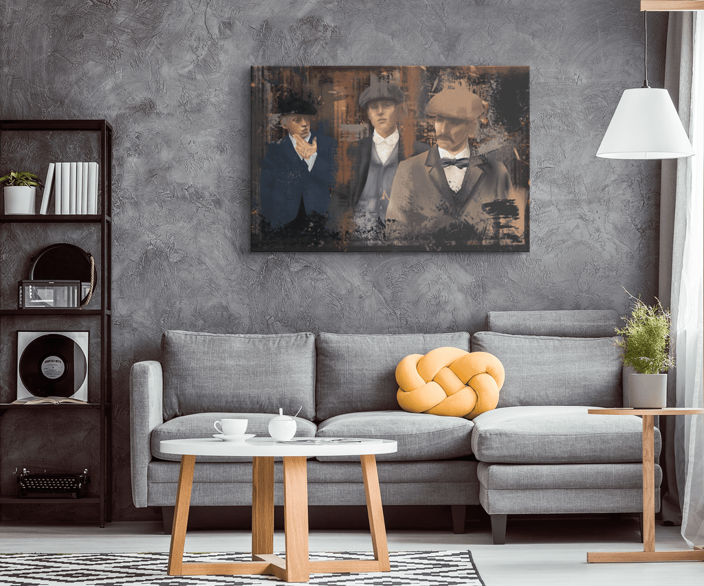 Peaky Blinders Fan Art on Framed Canvas HD Print | Peaky Blinders Poster Wall Hanging Decor | Tommy Shelby Netflix Digital Oil Painting