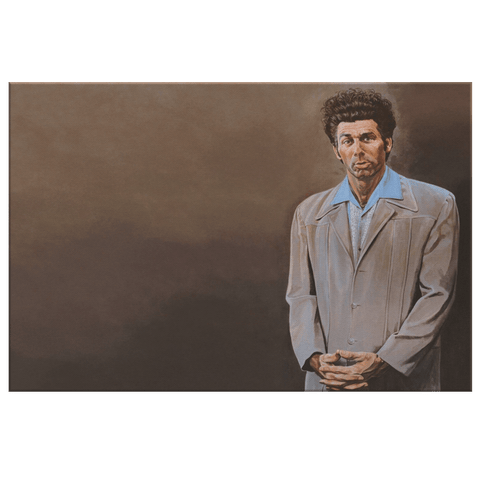"Kramer Portrait Seinfeld Cosmo ""The Kramer"" Painting on Framed Canvas Wall Art Print 