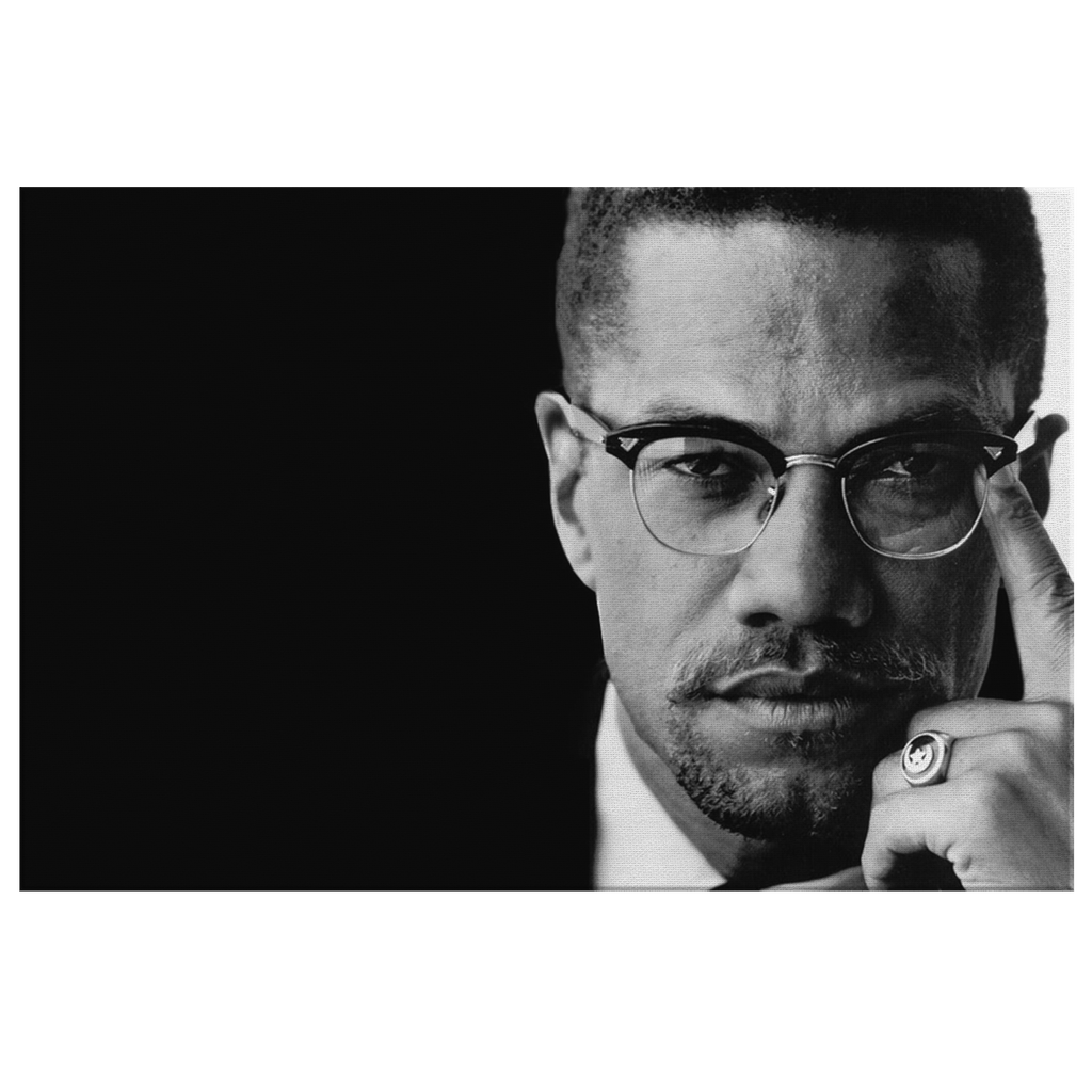 Malcolm X Historical Photo Print on Framed Canvas Wall Art | Black Power Black Lives Matter Civil Rights Wall Art Decor