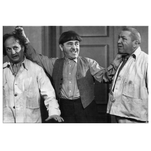 The Three Stooges Framed Canvas Photo Print