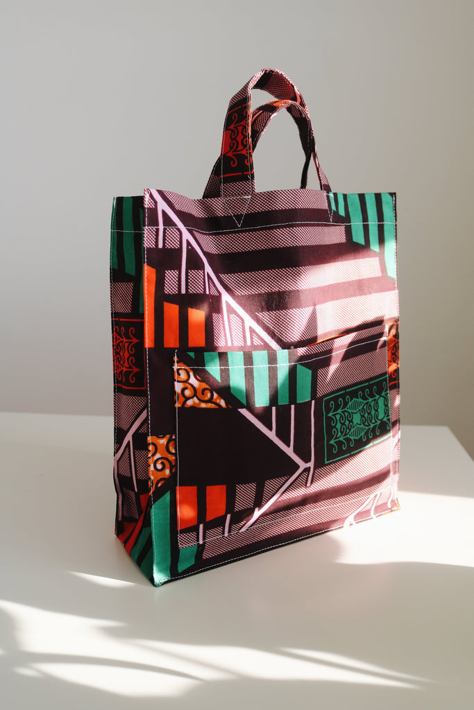 African Print Mini Tote Bag