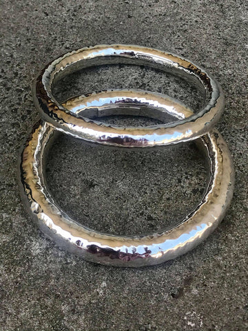 Beaten Silver Bangle | Desiderate Jewellery