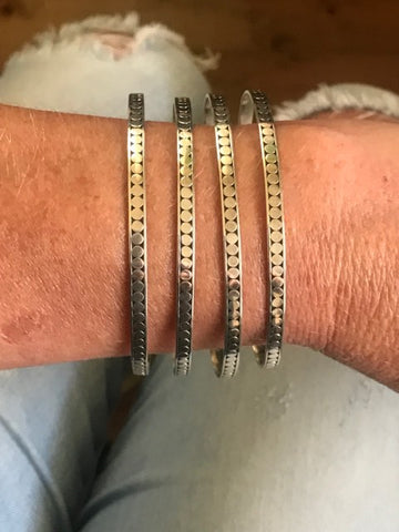 silver stacking bangles | Desiderate