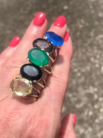 Colourful gemstone rings | Desiderate Jewellery