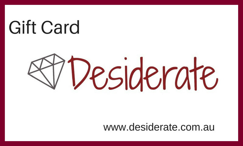 Gift Card Desiderate Jewellery