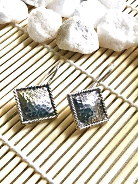 Hammered Silver Earrings | Desiderate Jewellery