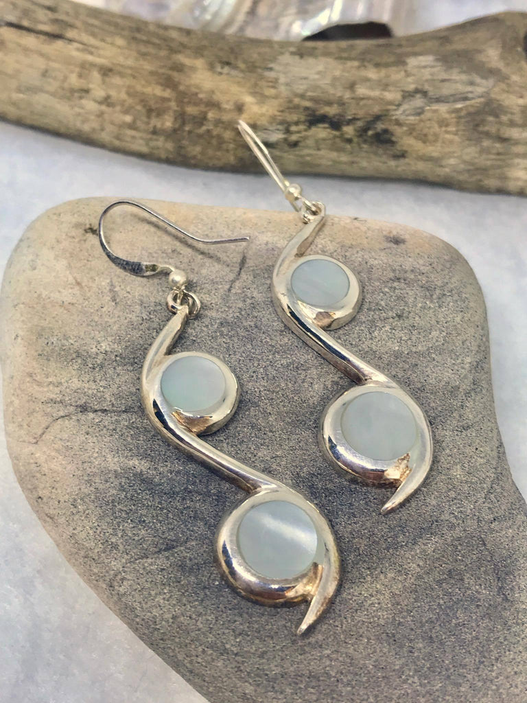 Silver Mother of Pearl Earrings