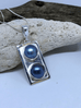 Double Blue PearlPendant