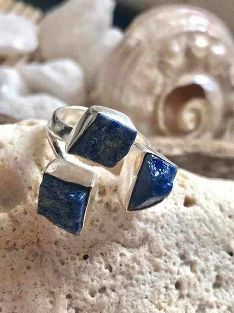 Lucky Three Lapis Lazuli Ring | Desiderate Jewellery