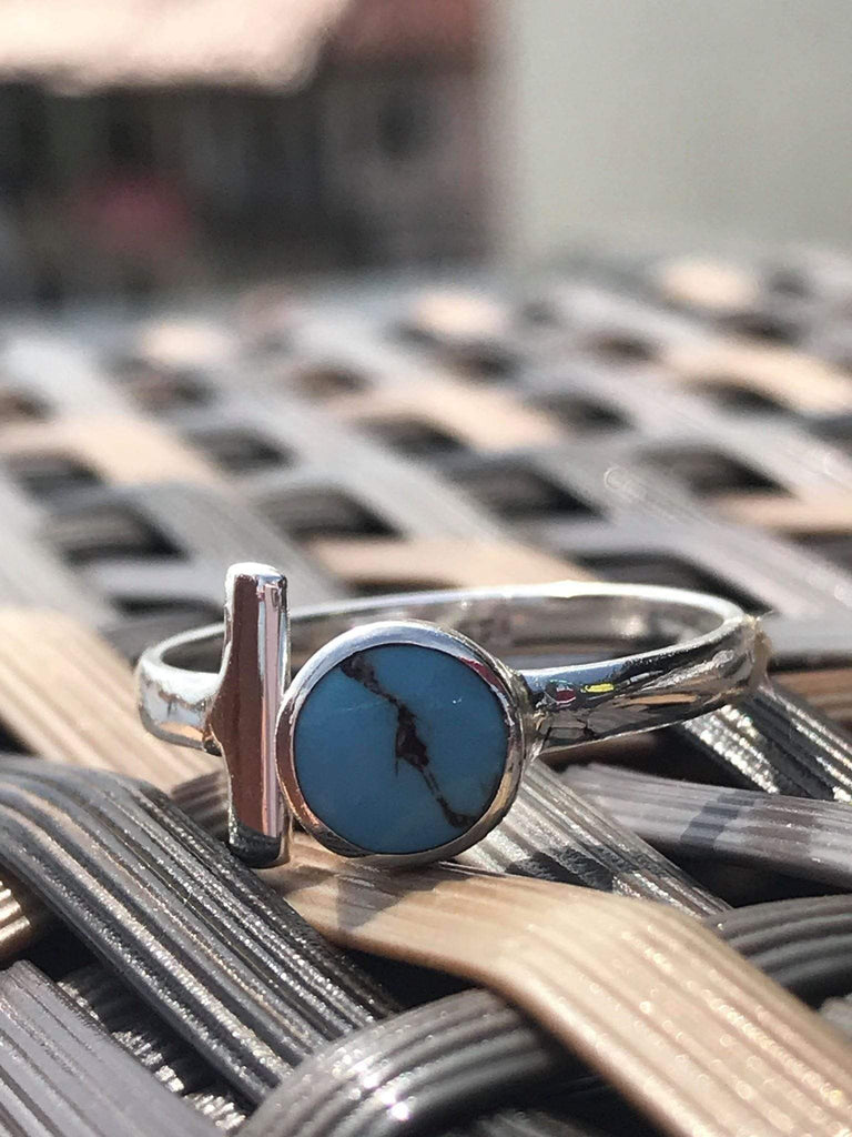 Sterling silver overlay turquoise ring