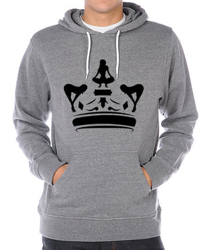 Gray & Black Puta Kings Hoodie