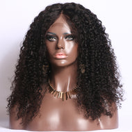 Peruvian Kinky Curly Full Lace Custom Unit